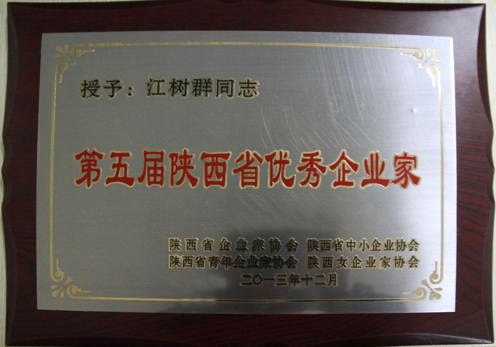 2013年集团创始人荣获第五届陕西省优秀企业家称号
