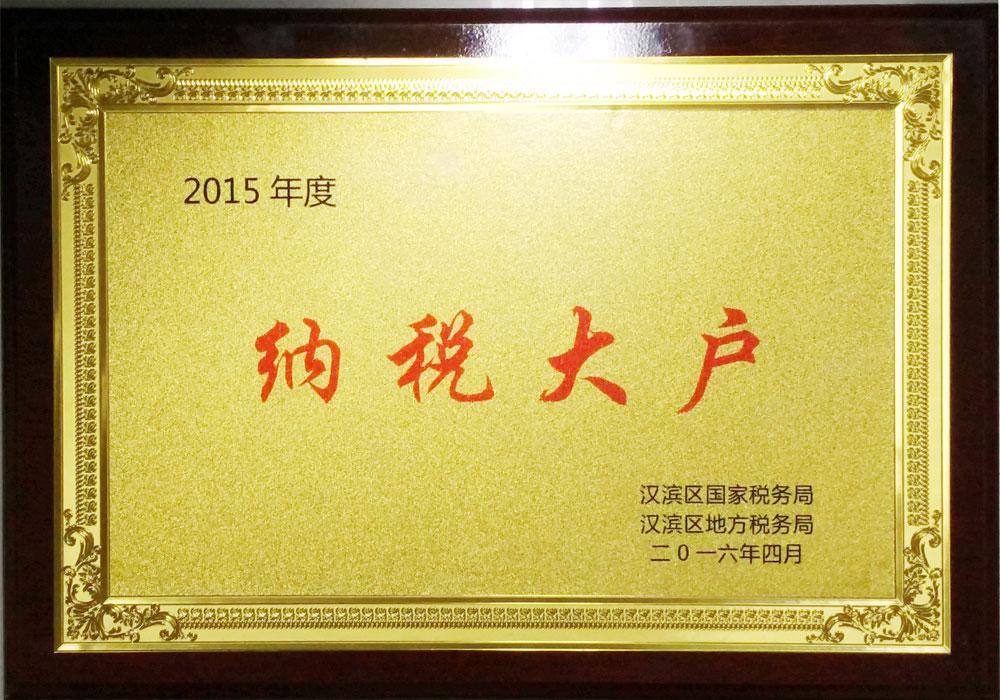 2015年汉滨区纳税大户
